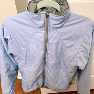 North face jacket in light blue